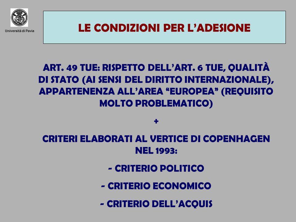 Università di Pavia BREVE SCHEMA ISTITUZIONI CONSIGLIO E CONSIGLIO EUROPEO: RAPPRESENTANO GLI INTERESSI DEGLI STATI MEMBRI COMMISSIONE: RAPPRESENTA LINTERESSE GENERALE DELLUNIONE PARLAMENTO EUROPEO: RAPPRESENTA I CITTADINI DELLUNIONE