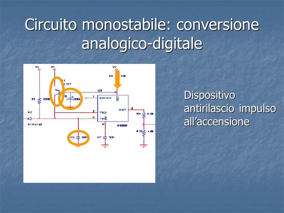 Circuito monostabile: conversione analogico-digitale Dispositivo antirilascio impulso allaccensione