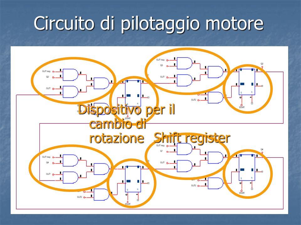 Circuito di pilotaggio motore Shift register Dispositivo per il cambio di rotazione