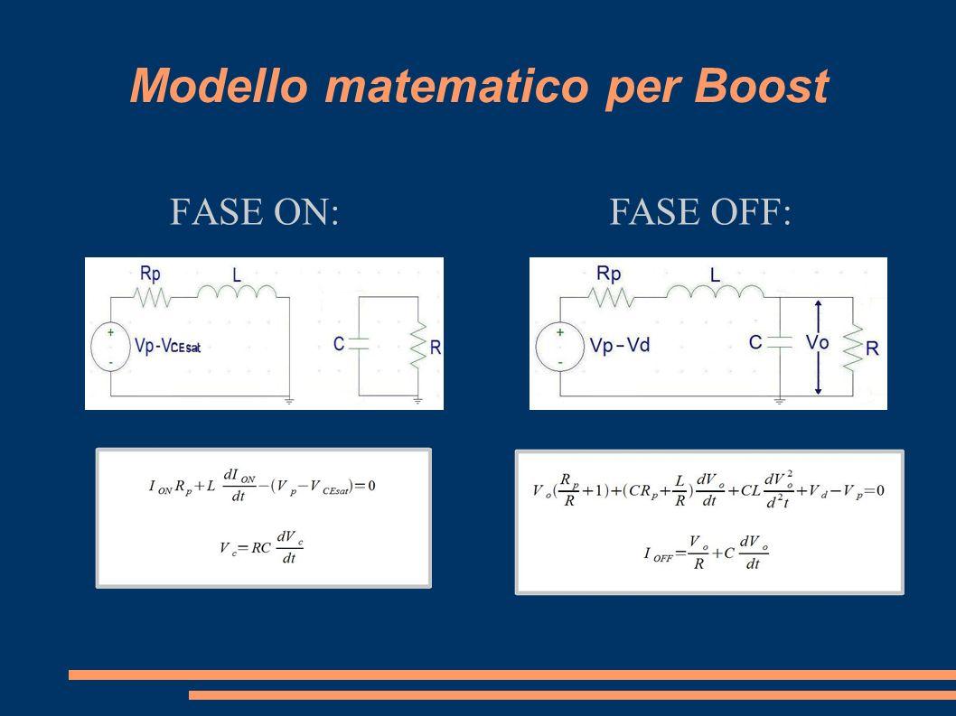 Modello matematico per Boost FASE ON:FASE OFF: