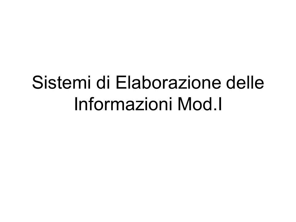 Sistemi di Elaborazione delle Informazioni Mod.I