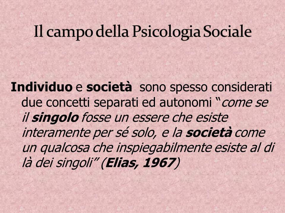 Individuo e società sono spesso considerati due concetti separati ed autonomi come se il singolo fosse un essere che esiste interamente per sé solo, e