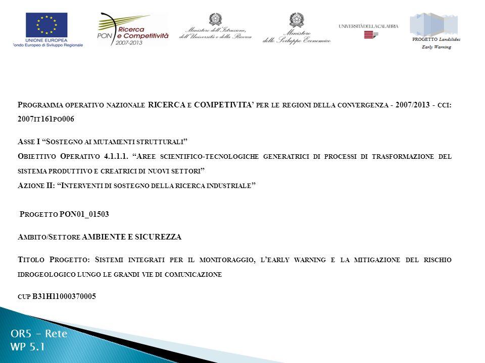 P ROGRAMMA OPERATIVO NAZIONALE RICERCA E COMPETIVITA PER LE REGIONI DELLA CONVERGENZA - 2007/2013 - CCI : 2007 IT 161 PO 006 A SSE I S OSTEGNO AI MUTAMENTI STRUTTURALI O BIETTIVO O PERATIVO 4.1.1.1.