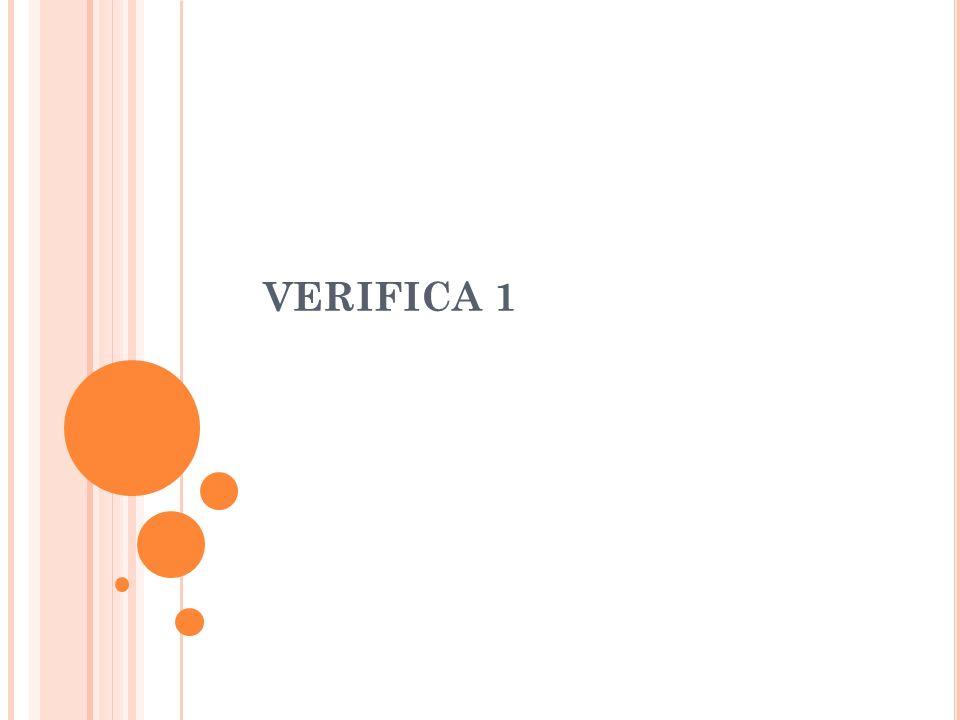 VERIFICA 1