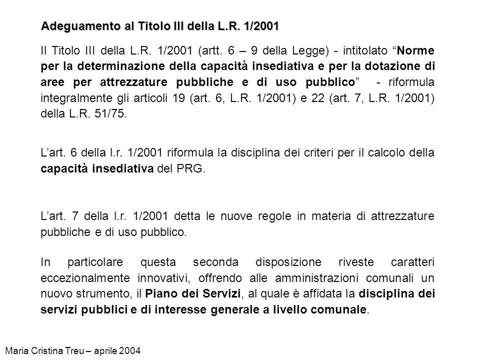 Varianti di adeguamento alla L.R.1/2001 Adeguamento al Titolo II della L.R.