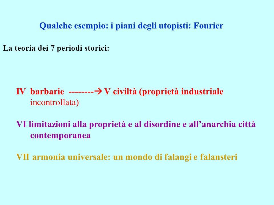 La teoria dei 7 periodi storici: IVbarbarie -------- V civiltà (proprietà industriale incontrollata) VI limitazioni alla proprietà e al disordine e al