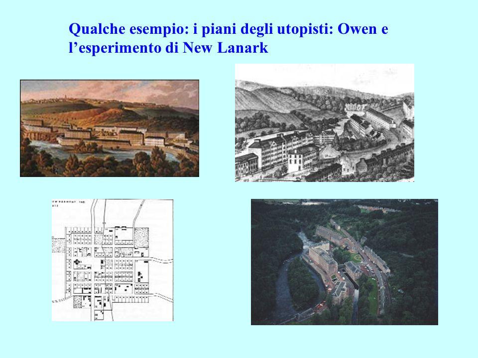 Qualche esempio: i piani degli utopisti: Owen e lesperimento di New Lanark