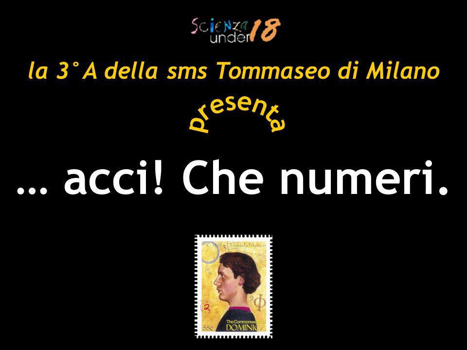 PLT BLDCHF … acci! Che numeri. la 3°A della sms Tommaseo di Milano