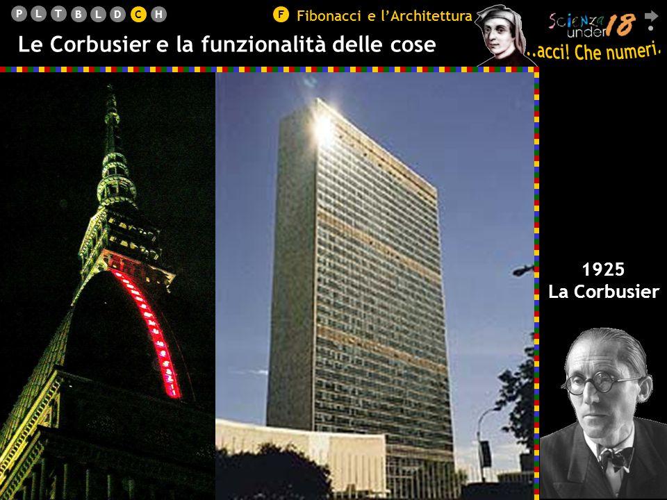 PLT BLDCHF Le Corbusier e la funzionalità delle cose 1925 La Corbusier Fibonacci e lArchitettura C