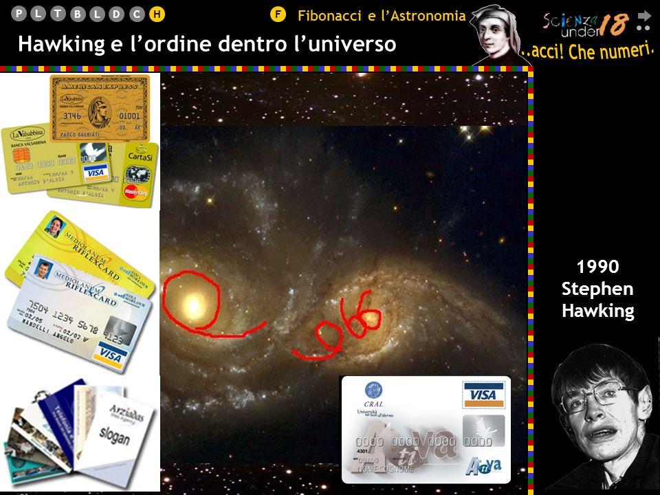 PLT BLDCHF Hawking e lordine dentro luniverso 1990 Stephen Hawking Fibonacci e lAstronomia H L orbita descritta da un pianeta è un ellisse, di cui il Sole occupa uno dei due fuochi.