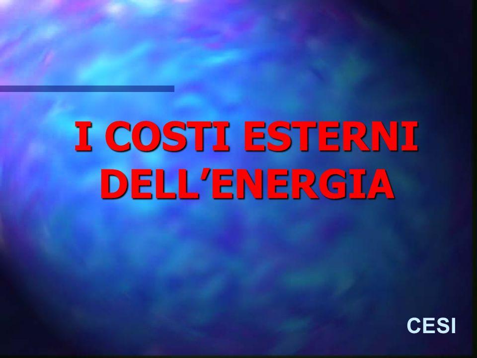 Esternalità socio-ambientali: origini CESI CONCETTO CHE NASCE NELLAMBITO DELLECONOMIA DEL BENESSERE (WELFARE ECONOMICS) MARSHALL (1890) E SIDWICK (1883): DISTINZIONE TRA ECONOMIE INTERNE ED ESTERNE PIGOU (1912): COSTI SOCIALI