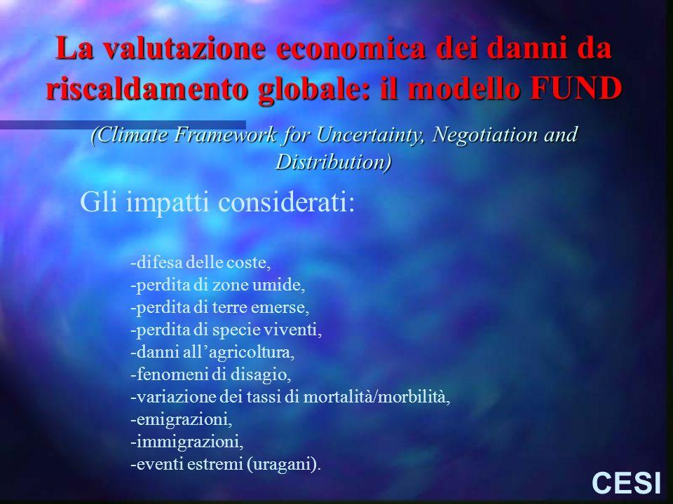La valutazione economica dei danni da riscaldamento globale: il modello FUND (Climate Framework for Uncertainty, Negotiation and Distribution) -difesa