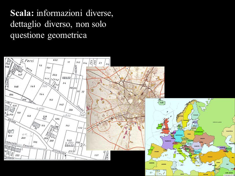 Scala: informazioni diverse, dettaglio diverso, non solo questione geometrica
