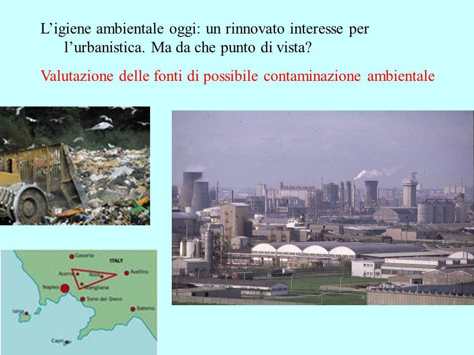 Ligiene ambientale oggi: un rinnovato interesse per lurbanistica. Ma da che punto di vista? Valutazione delle fonti di possibile contaminazione ambien