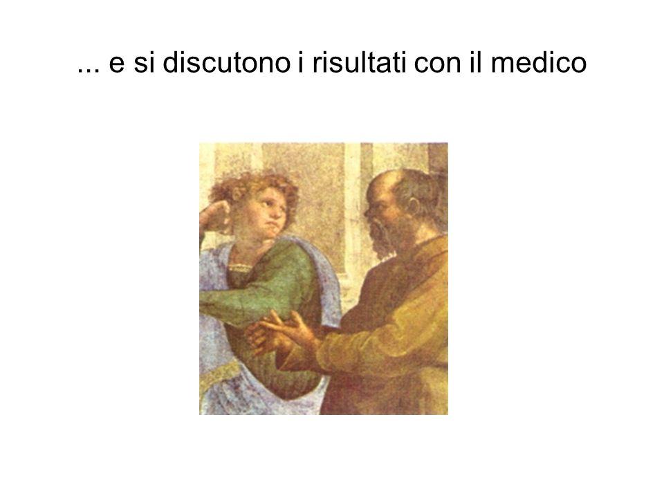 ... e si discutono i risultati con il medico