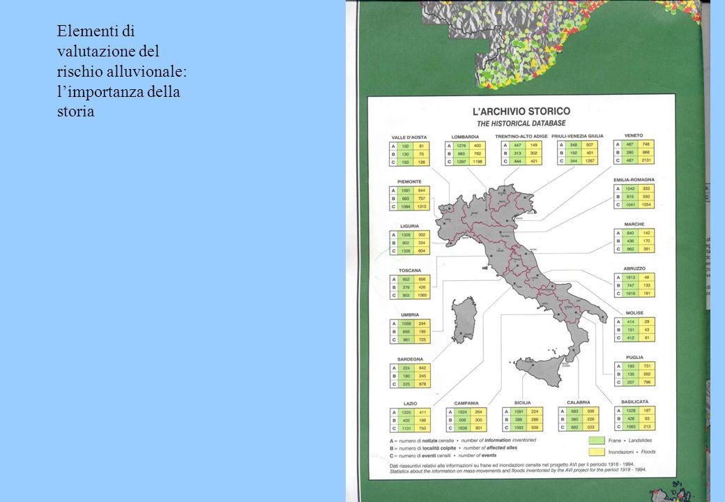 Elementi di valutazione del rischio alluvionale: limportanza della storia