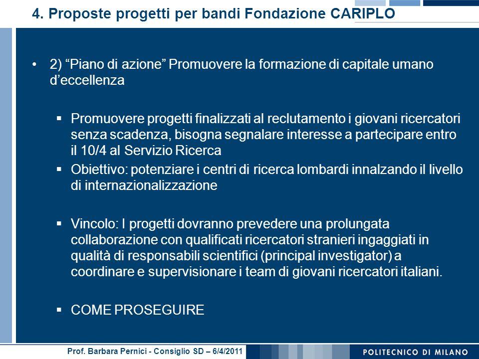 Prof. Barbara Pernici - Consiglio SD – 6/4/2011 4.
