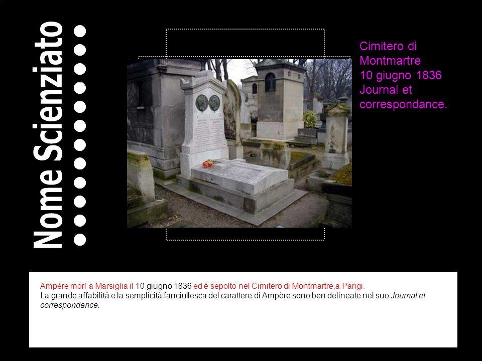 Cimitero di Montmartre 10 giugno 1836 Journal et correspondance.