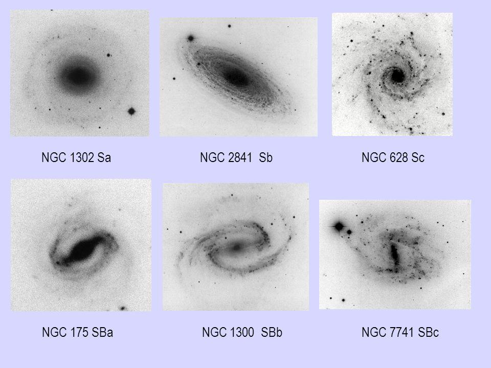 NGC 1302 Sa NGC 2841 Sb NGC 628 Sc NGC 175 SBa NGC 1300 SBb NGC 7741 SBc