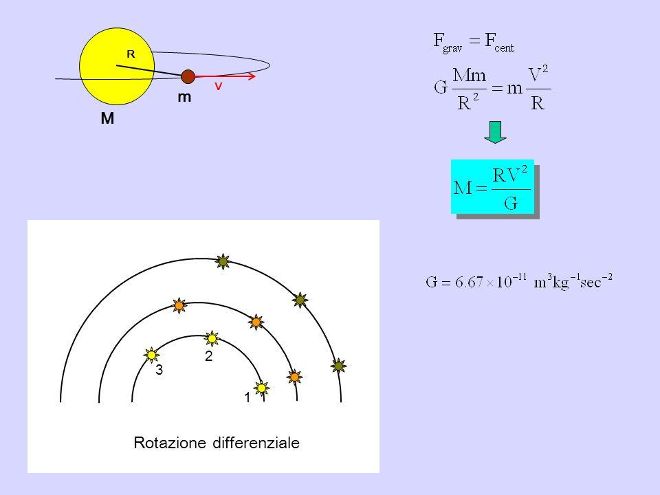 R V M m 1 2 3 Rotazione differenziale