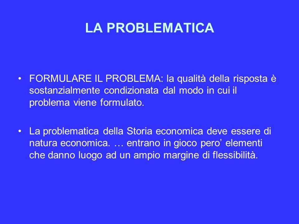 LA PROBLEMATICA FORMULARE IL PROBLEMA: la qualità della risposta è sostanzialmente condizionata dal modo in cui il problema viene formulato.