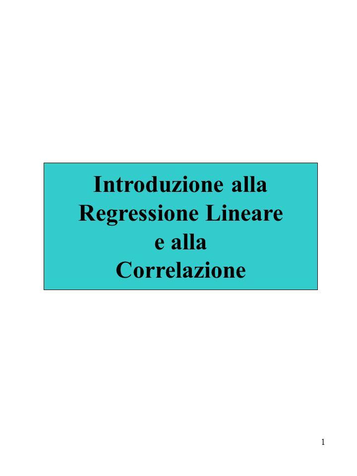 1 Introduzione alla Regressione Lineare e alla Correlazione