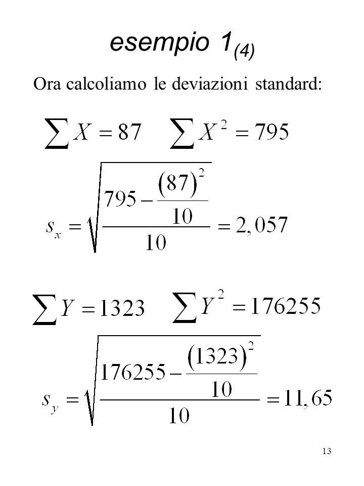 13 Ora calcoliamo le deviazioni standard: esempio 1 (4)