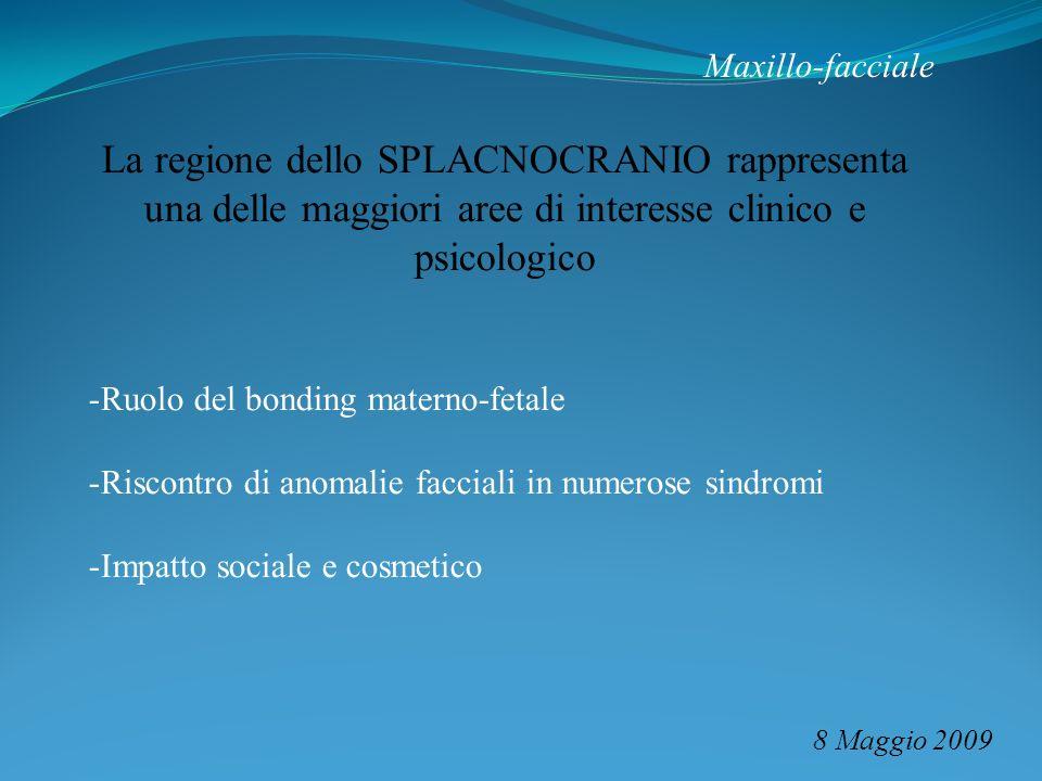 Maxillo-facciale 8 Maggio 2009 La regione dello SPLACNOCRANIO rappresenta una delle maggiori aree di interesse clinico e psicologico -Ruolo del bondin