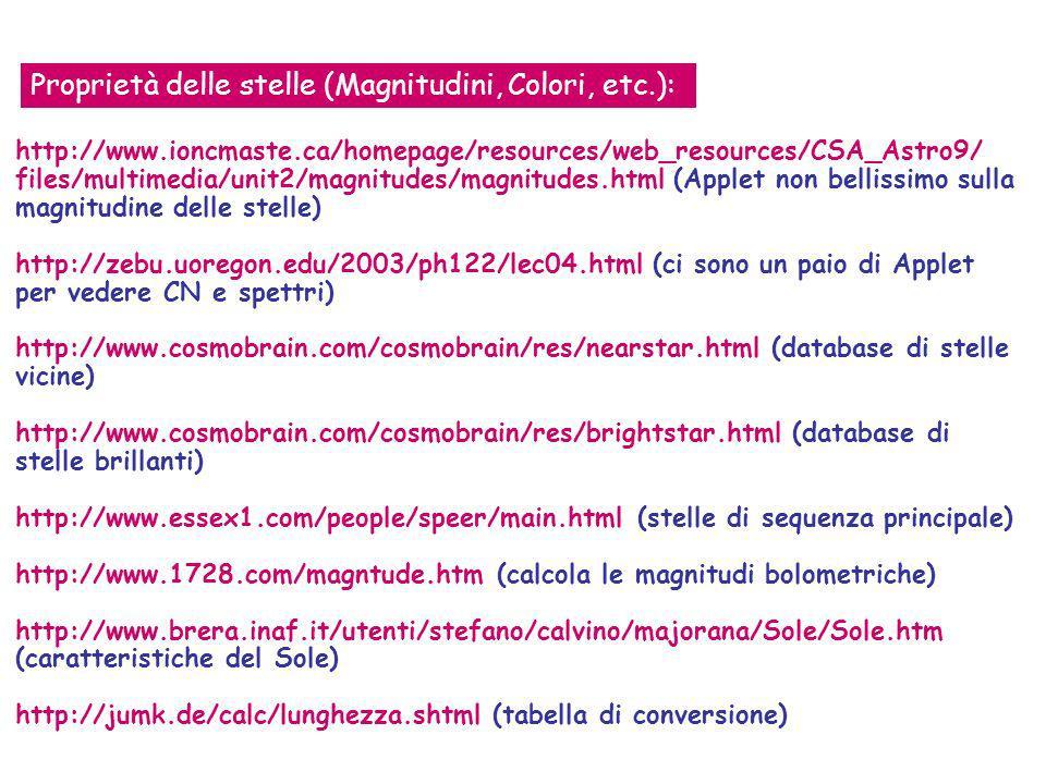 http://www.ioncmaste.ca/homepage/resources/web_resources/CSA_Astro9/ files/multimedia/unit2/magnitudes/magnitudes.html (Applet non bellissimo sulla ma