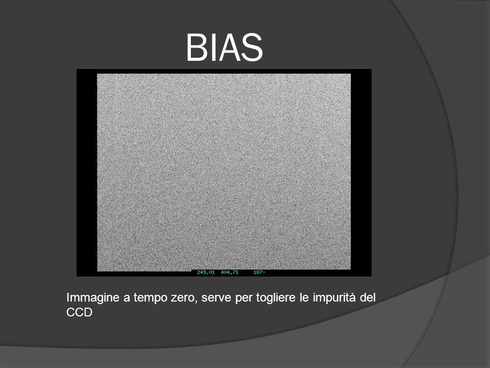 BIAS Immagine a tempo zero, serve per togliere le impurità del CCD