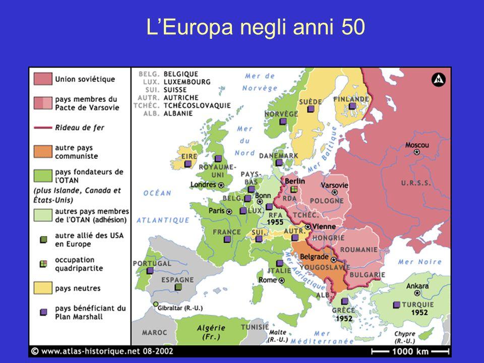 LEuropa negli anni 50
