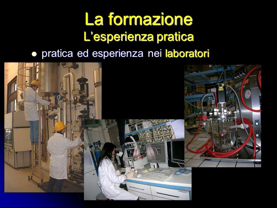 La formazione Lesperienza pratica pratica ed esperienza nei laboratori pratica ed esperienza nei laboratori