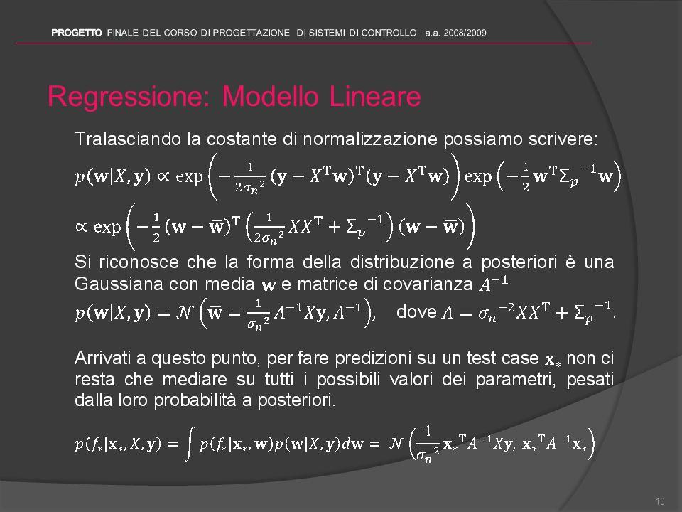 Regressione: Modello Lineare 10