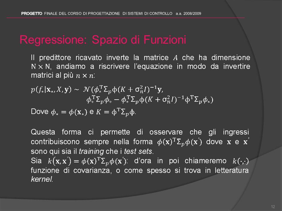 Regressione: Spazio di Funzioni 12
