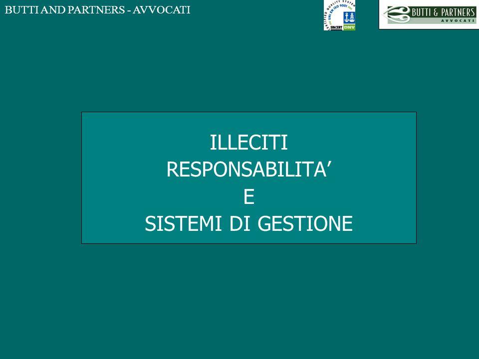 BUTTI AND PARTNERS - AVVOCATI ILLECITI RESPONSABILITA E SISTEMI DI GESTIONE