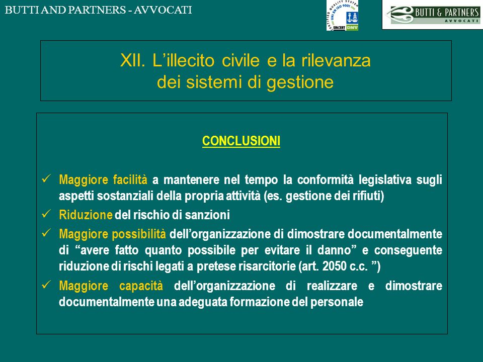 BUTTI AND PARTNERS - AVVOCATI XII.
