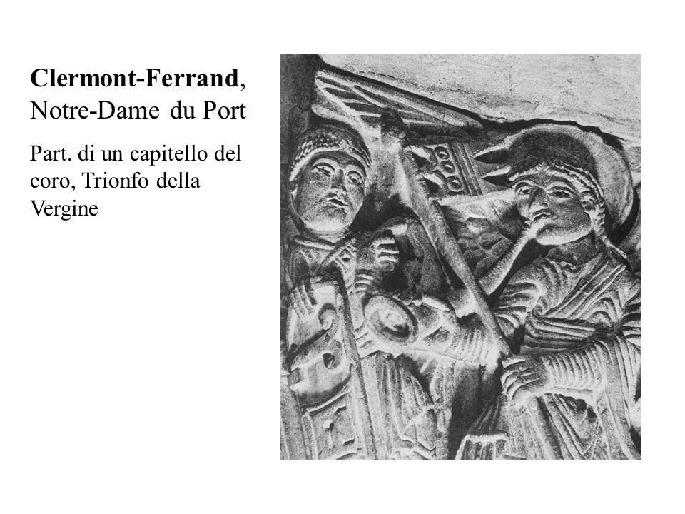 Clermont-Ferrand, Notre-Dame du Port Part. di un capitello del coro, Trionfo della Vergine