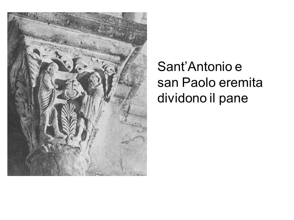 SantAntonio e san Paolo eremita dividono il pane