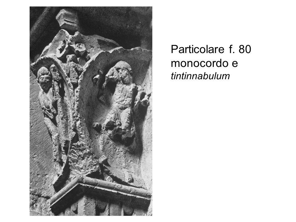 Particolare f. 80 monocordo e tintinnabulum