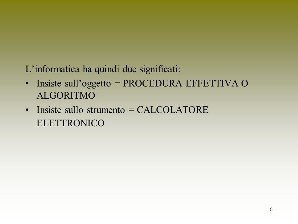 157 Implementazione iterativa int computeFib(int n) { int i = 1, x = 1, y = 0; while (i < n) { i = i+1; x = x+ y; y = x -y; } return x; }