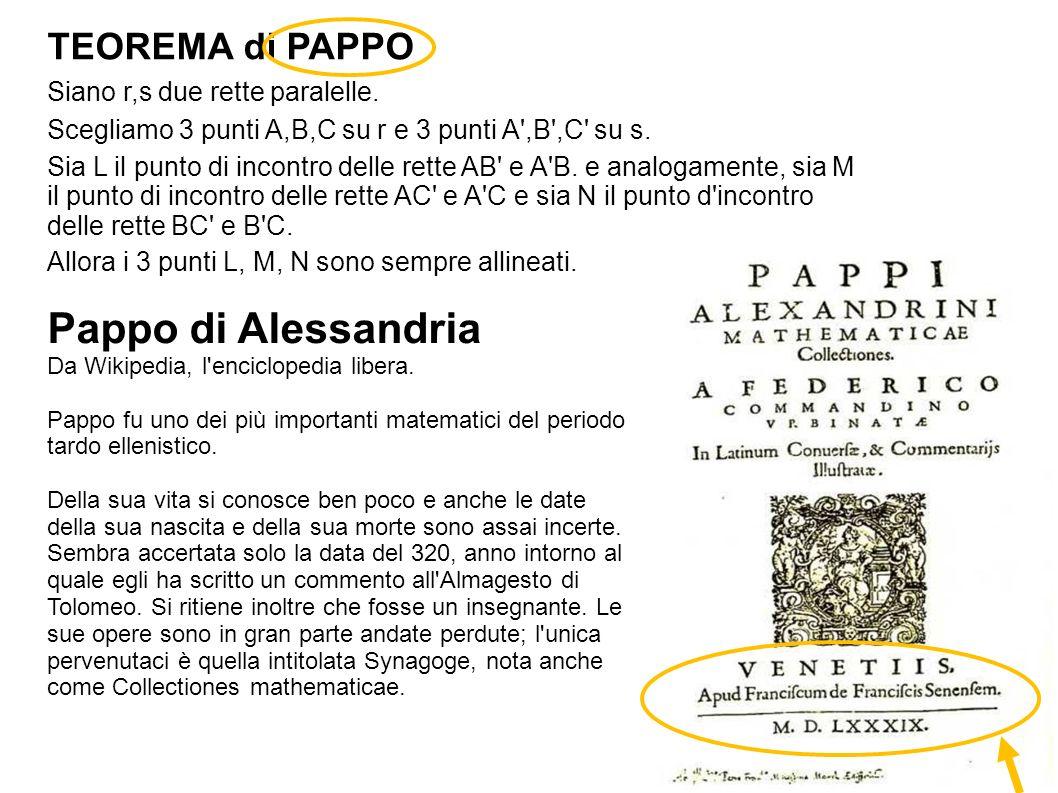 Piero della Francesca è stato un precursore della Geometria Prospettica, oggi detta Geometria Proiettiva.