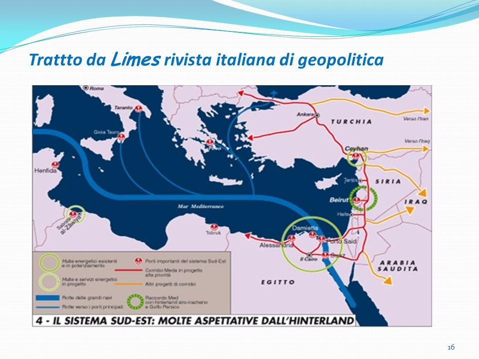 Trattto da Limes rivista italiana di geopolitica 16