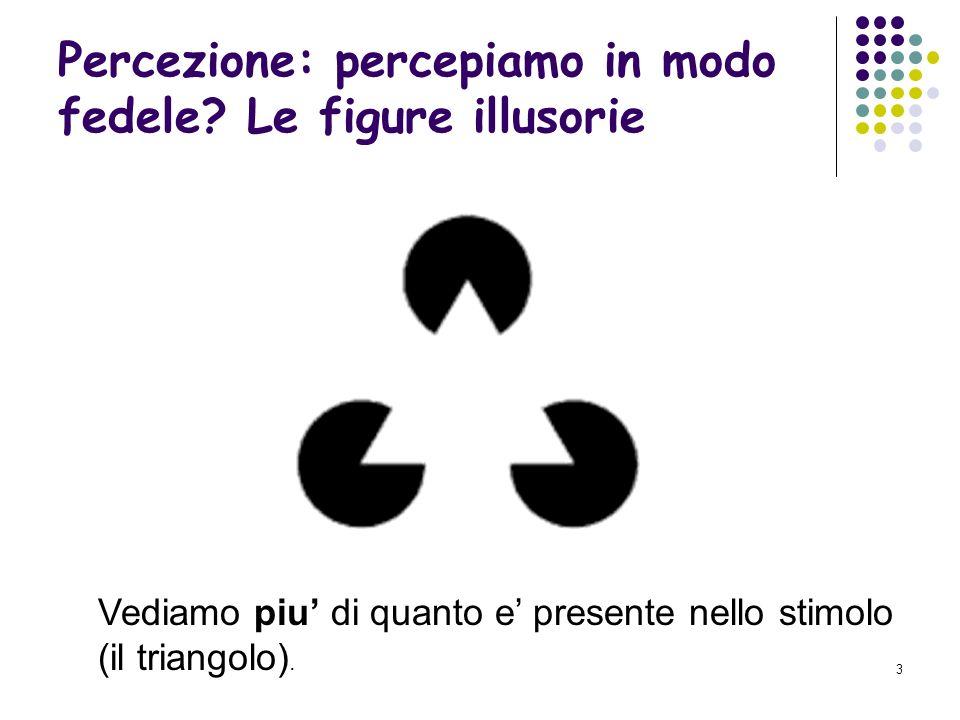 13 Secondo Biederman per riconoscere gli oggetti li decomponiamo in geoni, ioni geometrici.