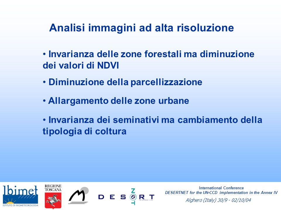 SQI - Soil Quality Index SQI = (Drenaggio * Profondità * Pietrosità * Tessitura * Scheletro in superficie)^ 1/5 International Conference DESERTNET for the UN-CCD implementation in the Annex IV Alghero (Italy) 30/9 - 02/10/04