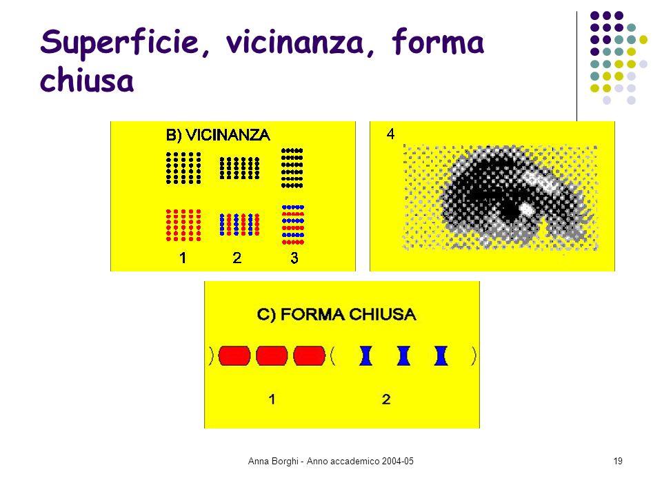 Anna Borghi - Anno accademico 2004-0519 Superficie, vicinanza, forma chiusa