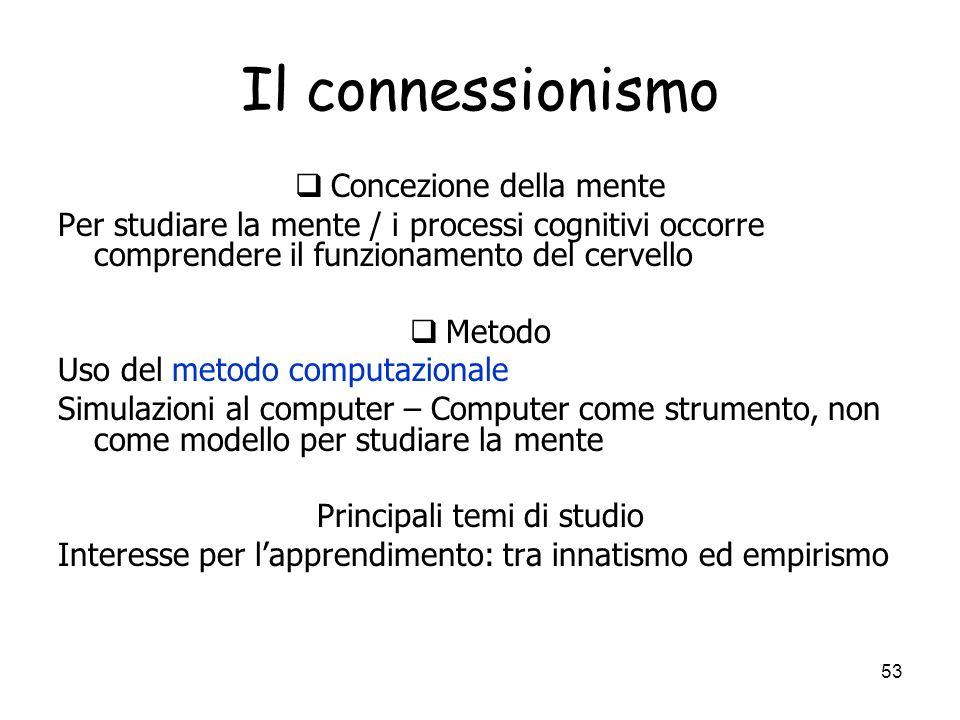 52 Apprendimento per il connessionismo