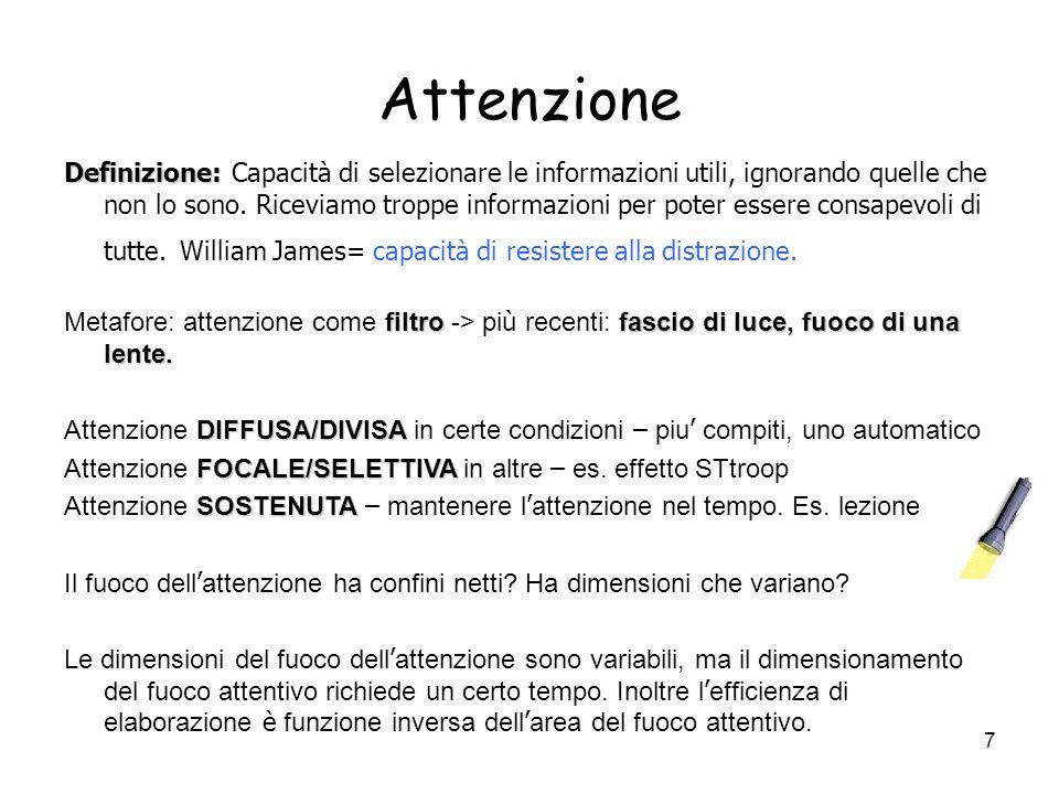 107 Evidenze a favore dellesistenza di sottosistemi: amnesia Amnesia = deficit della memoria in seguito a lesioni cerebrali, traumi psicologici, malattie, alcolismo, elettroshock etc.