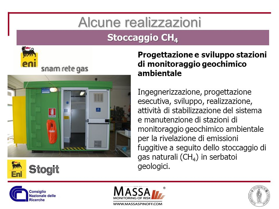 Progettazione e sviluppo stazioni di monitoraggio geochimico ambientale Ingegnerizzazione, progettazione esecutiva, sviluppo, realizzazione, attività
