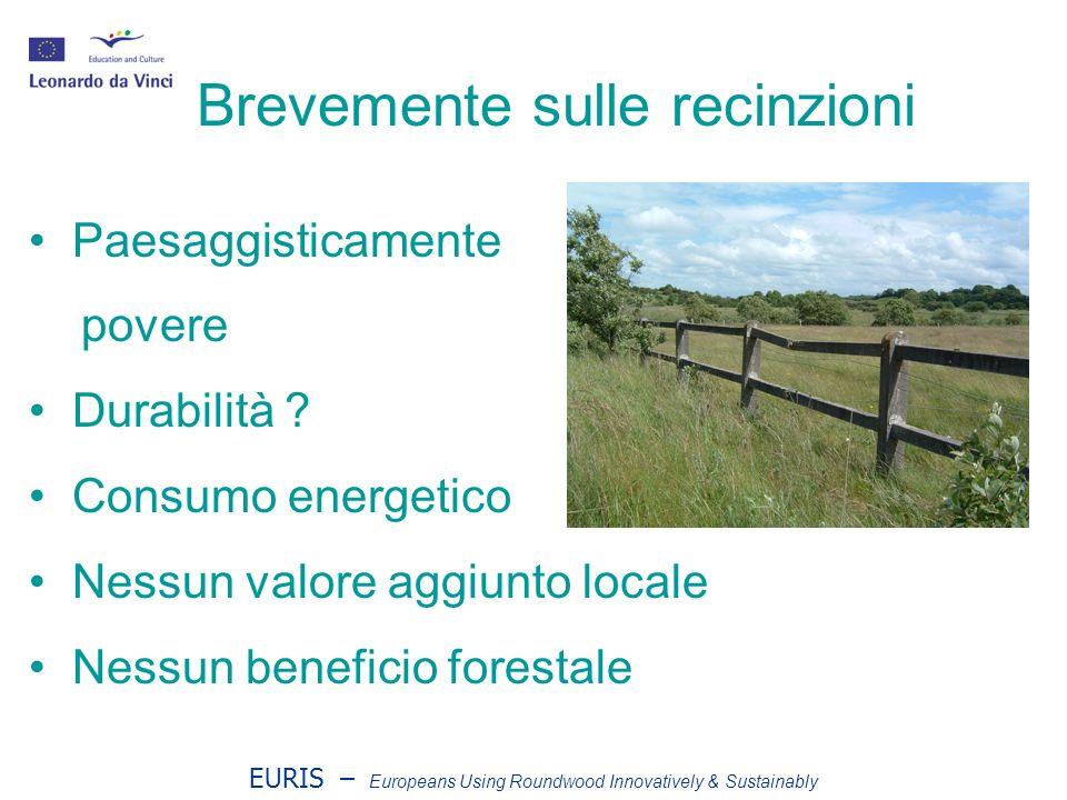 EURIS – Europeans Using Roundwood Innovatively & Sustainably Palizzate di Castagno Attraenti Durano fino a 40 anni.