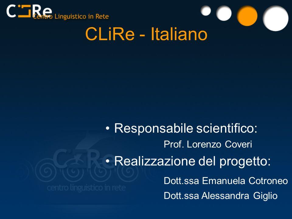 Responsabile scientifico: Prof.